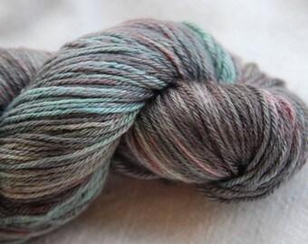 handdyed Merino/silkyarn 100g/3,5oz, colour feathers