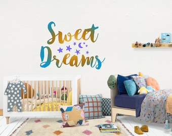 Sweet dreams / Wall Vinyl Decal Sticker / Nursery Baby Toddler Kid Children Room / Decor Decoration / Gift Present / Baby shower Birthday