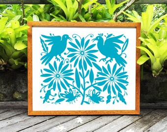 Otomi Mexico, Otomi indian, Nursery decor, Mexican folk art paintings, Otomi indians, Otomi pattern, 8x10 in, 11x14 in, 16x20in