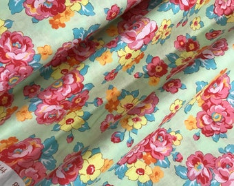 Light Green Floral Bouquet Print from the 1930's Child Smile Collection by Lecien Fabrics