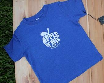 Toddler's Apple of His Eye Christian Shirt | Girls Christian Shirt | Boys Christian Shirt | Children's Christian Shirt | Christ