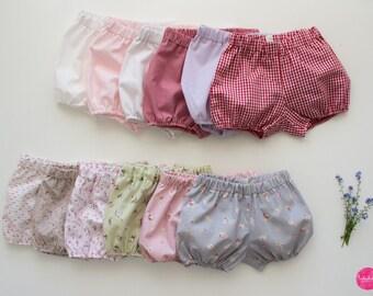 Baby girl diaper panties short pants shorts bloomers short pants cotton