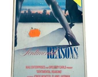 Sentimental Reasons 1984 VHS Movie 85 Minutes Metropolitan Entertainment