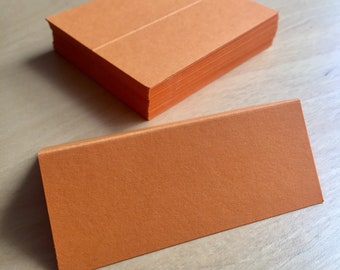 x25 Wedding Place Cards/Name Tags in Orange - Handwritten Calligraphy Optional