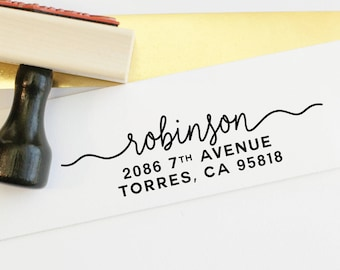 Address Stamp - Self Inking Return Address Stamp - rubber stamp - Custom and Personalized Stamp, Housewarming gift