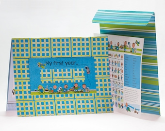 Baby Calendar First Year whith Stickers