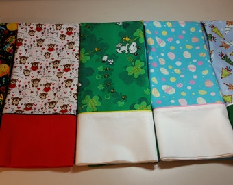 Holiday Pillowcase Set of 5 Standard Size with Free Shipping
