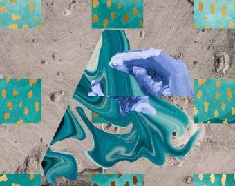 Limited Edition Print: Concrete Geodes