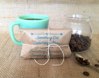 Ready to Ship. Bridal Shower Favors. Coffee favors. Freshly roasted, gourmet, unique. Set of 25