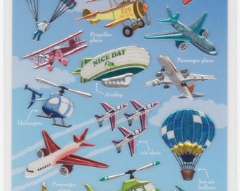Plane Stickers and Sky Vocab - Mind Wave - Reference F1677