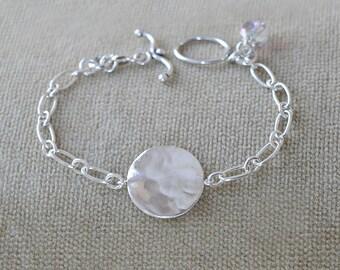 Sterling Silver Disk Bracelet