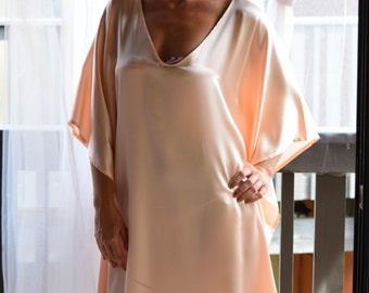 Silk Bridal Nightgown Wedding Lingerie Sleepwear Honeymoon Silk Kaftan