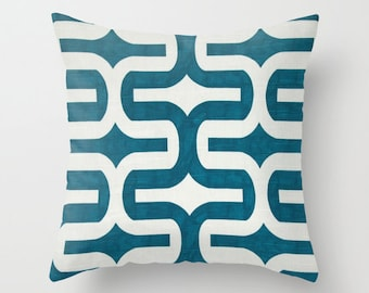 Turquoise Pillow Cover Blue Pillow Decorative Pillow Cushion Cover 8 Size Choices