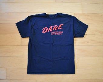Vintage Dare T-Shirt noir Tee adulte grand