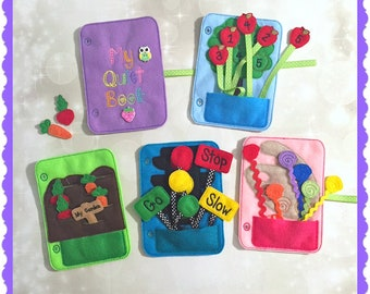 Quiet Book - starter kit - Busy Book - Pre School Learning - Activity Book - Toddler Learning - Kids Activity Pages - Felt Toys - Learning