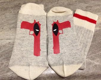 Deadpool (Word Socks - Funny Socks - Novelty Socks)