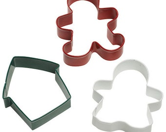 Gingerbread Cookie Cutter Set - Wilton Christmas Gingerbread Boy Man Girl House Cookie Cutters - Christmas Cookie Cutters