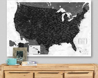 Push Pin Travel Map USA Map Pin Travel Gift Man Personalized Anniversary Gifts for Men United States Travel Map Push Pin RV Decorations Art