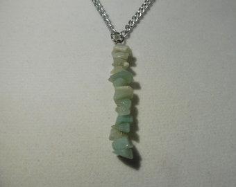 Amazonite Vertical Drip Gemstone Necklace   Vertical Gemstone Necklace   Gemstone Necklace   Amazonite Necklace
