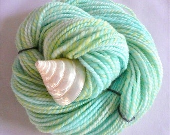 Handspun Yarn Handspun Hand Dyed Yarn Hand Spun Yarn Handspun Worsted Yarn Weaving Yarn Handspun Merino Yarn Green Yarn Knitting Yarn