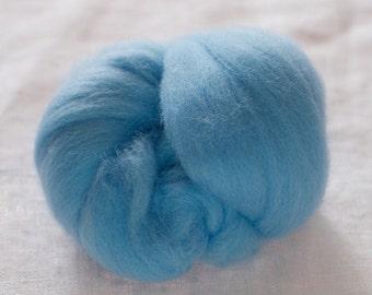 Merino Wool Top 100%, Needle Felting Wool, Wool Roving, Hand Spinning, Aqua Blue, Merino Wool Felt, High Quality Soft Merino Wool, mw23
