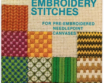 Bucilla Booklet #500: Canvas Embroidery Stitches  Needlepoint Stitches
