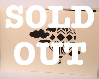 Hot Air Balloon - Currently sold out