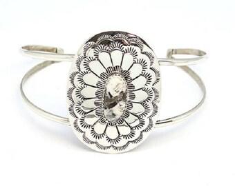 White Buffalo Concho Bracelet