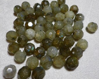Labradorite Round Faceted Beads 8mm