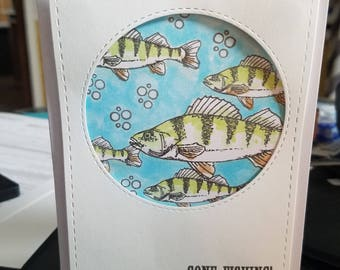 Handmade card Father's Day gone fishing perfect for Dad no sentiments  happy birthday or anything you like