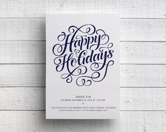 Christmas Party Invitation, Holiday Party, Company Party, Christmas Event, Holiday Event, Christmas 2017, Printable Holiday