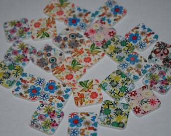 set of 25 fancy buttons
