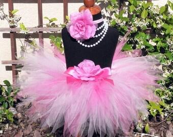 """Baby Tutu - Pink Tutu - Birthday Tutu - Sewn 8"""" Pixie Tutu - PINK POWDER PIXIE - Infant Toddler Pixie Tutu - sizes Newborn to 12 month"""