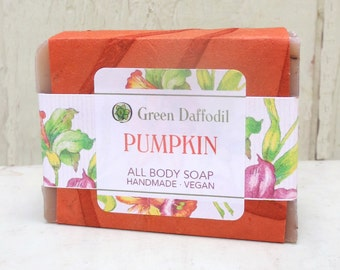 Pumpkin Limited Edition Bar of Soap - Green Daffodil