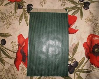 7 - set of 5 green gift bag