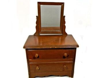 Vintage Child's Dresser with Mirror