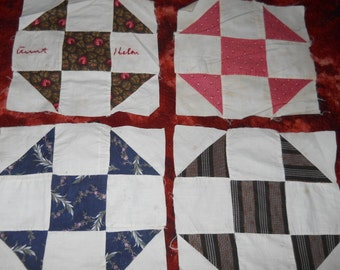 Shoo Fly Vintage Quilt Blocks