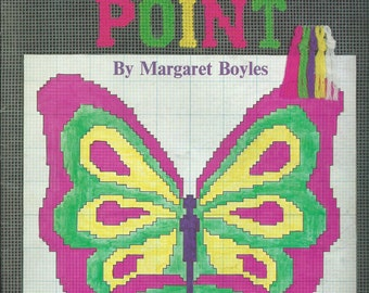 Needlepoint Pattern Book, Beginners Needlepoint, Margaret Boyles, Vintage Book, 1970's, Needlepoint Book, FREE SHIPPING