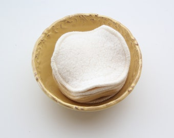 "Organic Cotton Sherpa Facial Rounds -- 2 Ply 3"" and 4"" Diameter, Choose your Size, Quantity & Thread"