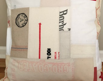 "24"" American Grain Sack Pillow Cover - Modern Barn"
