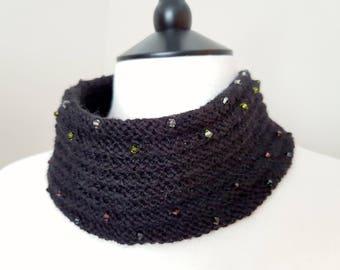 Crystal Cowl Knitting Kit (yarn) - BLACK