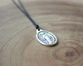 Religious Medal Necklace/ Miraculous Medal Necklace