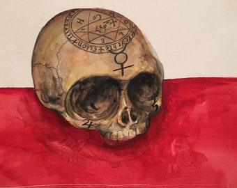 Alchemical Skull Print