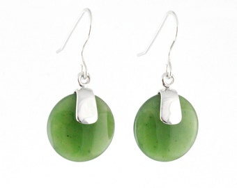 Canadian Nephrite Jade Earrings, 0056