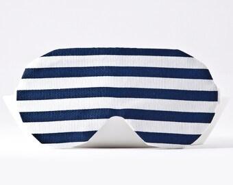 Blue Stripe Sleep Mask, Nautical Eye mask, Travel Sleep Mask, Travel Gifts for Women, Sleeping Mask, Gifts for Her Under 20, Eye Sleep Mask