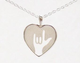 Sign Heart Pendant.