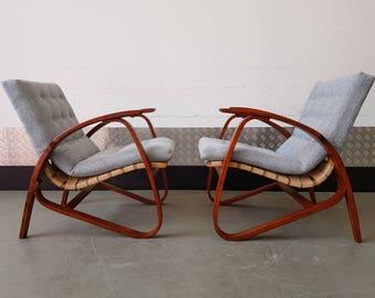 1 of 4 Vintage Czech Armchair by Jan Vanek Mid Century, Design, Art Deco 1930's