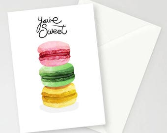 You're Sweet A6 Greetings Card
