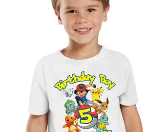 Pokemon Birthday Shirt for Kids and Family, Custom Birthday Shirt, Pikachu Pokemon T-shirt