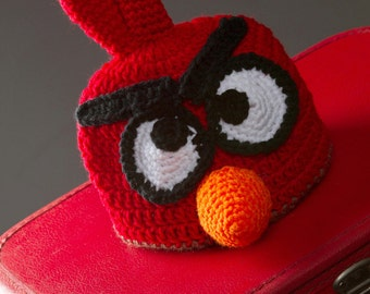 Angry Bird Hat for Infants - Adults - Great Photo Prop!